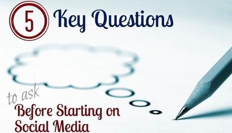 5 Key Questions to Ask Before Starting on Social Media   Reload Digital   Social Media Useful Info   Scoop.it