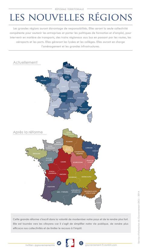 La nouvelle carte des régions françaises | divers | Scoop.it