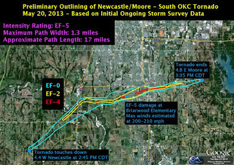 Geographic Travels: Maps of Moore Oklahoma Tornado | IB Geography (Diploma Programme) | Scoop.it