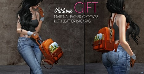Martina Leather Gloves and Ruth Leather Backbag Group Gift by Addams | Teleport Hub - Second Life Freebies | Second Life Freebies | Scoop.it