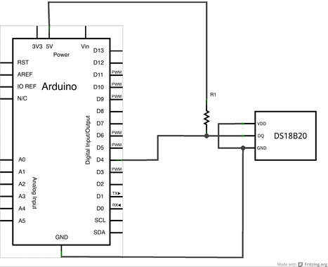 µCI – Arduino DS1820 Temperature Sensors and LCD | µ Control It | projet isolation thermique T STI2D | Scoop.it