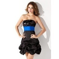 [US$ 136.99] Empire Strapless Short/Mini Satin Sequined Homecoming Dress With Ruffle Sash (022010571) | jenjenhouse | Scoop.it