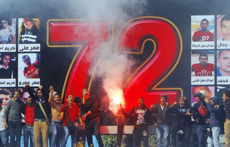Diaporama : Les Ultras d'Ahli en fête après le verdict du drame de Port Saïd | Égypt-actus | Scoop.it
