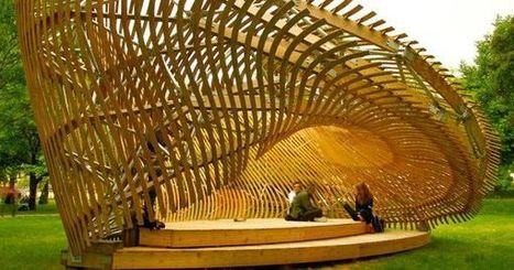 Students Create Mind-Bending Wooden Parametric Pavilion (Video) | The Architecture of the City | Scoop.it