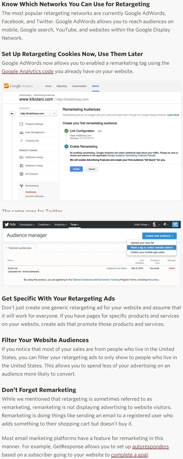 5 Retargeting and Remarketing Tips for Beginners - SumAll | The Marketing Technology Alert | Scoop.it