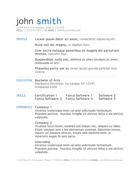 Best Free Resume Templates Word | Web inspiration | Scoop.it