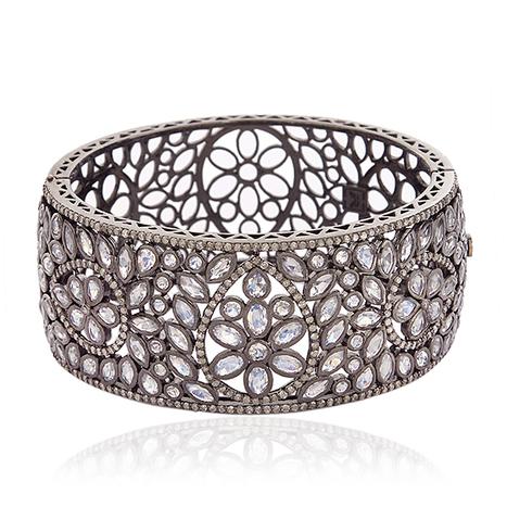 Rainbow Moonstone Diamond Bangle | Diamond Jewelry | GemcoDesigns | Pave Diamond Bracelets | Diamond Jewelry | GemcoDesigns | Scoop.it