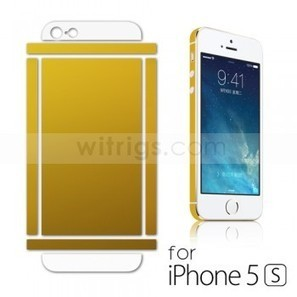 Glitter Back Screen Protector with Frame Edge Sticker for Apple iPhone 5S Golden - Witrigs.com | Do iphone 5s need screen protectors | Scoop.it