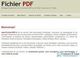 Fichier-PDF.fr : une application en ligne pour sauvegarder et partager facilement vos fichiers PDF   Informatique TPE   Scoop.it