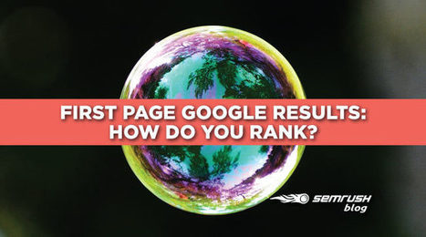 First Page Google Results - How Do You Rank? [Infographic] | Succès marketing | Scoop.it