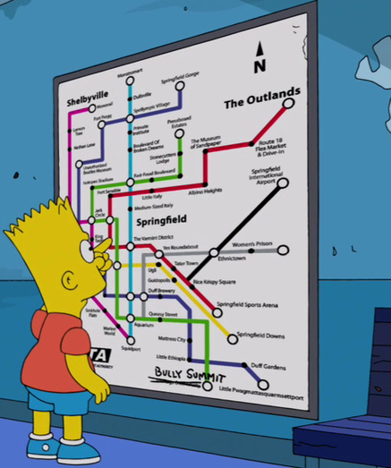 Everything We Know About Springfield, Mapped | Géographie et cinéma | Scoop.it