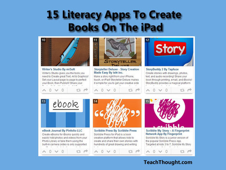 15 More Apps To Create Books On The iPad - TeachThought | ipads in education | Scoop.it
