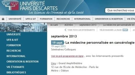 Colloque sur la médecine personnalisée en cancérologie - Bibliothèque interuniversitaire de Santé - Paris | Séminaires en cancérologie en IDF | Scoop.it