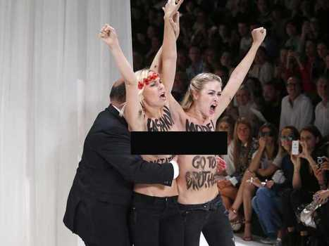 Topless Protesters Crash Runway At Paris Fashion Week - Business ... | Fashion | Scoop.it