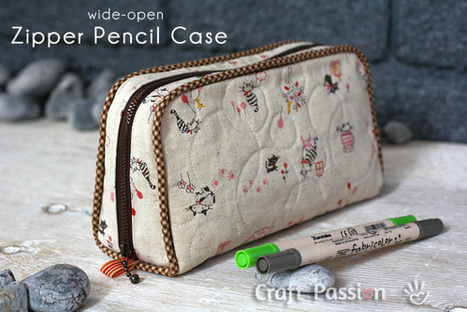 Sewing | Zipper Pencil Case | Free Pattern & Tutorial at CraftPassion.com | Einfach Nähen | Scoop.it