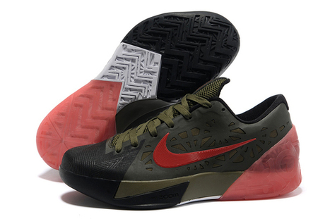 Nike KD Trey 5 Black-Gym RedSquadron Green Mens Size Shoes | my want collection | Scoop.it