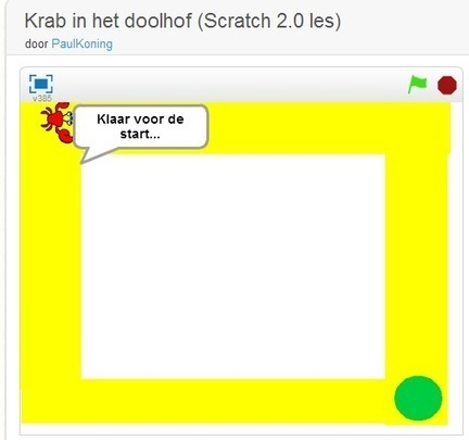 Een simpel doolhofspel met Scratch | LesWiki | Twitter in de klas | Scoop.it