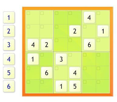 Easy 6x6 Sudoku Puzzle | Jogos no SCOOP it | Scoop.it