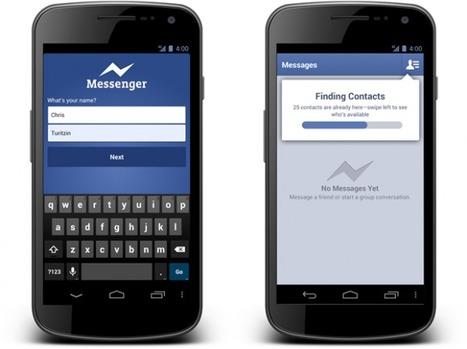 Facebook Messenger sur Android : plus besoin de compte Facebook pour l'utiliser   Internet et mobile   Scoop.it