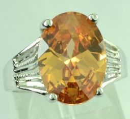 18ct White Gold 6ct Oval Cut Citrine ring | Diamonds, Gold & Jewellery | Scoop.it