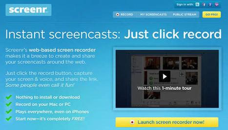 10 logiciels gratuits de capture d'écran vidéo | Outils de la formation a distance | Scoop.it