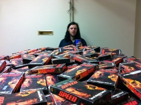 """This Guy Is on a Pointless Quest to Collect Every VHS Copy of the Movie """"Speed"""" Ever Made 