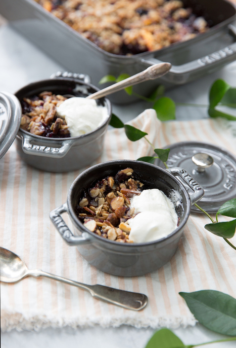 Peach & Blueberry Crumble with Gingersnap Crust | Life, styled | Scoop.it