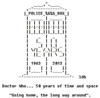 50 Years in Time and Space | ASCII Art | Scoop.it