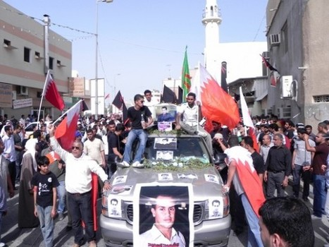 Photos: Tousands Bahrainis Attended Funeral Procession of Martyr Hani Abdul Aziz in Bilad, March 25 | Human Rights and the Will to be free | Scoop.it