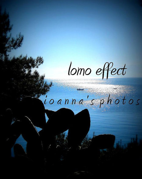 Digital Fine Art Photography Download 8''x10'' Blue Greek Sea, Sky, Boat and Cactus Nature Vintage Lomo Effect by ioanna's photos | Awesome digital art | Scoop.it