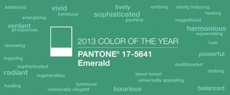 La couleur tendance 2013 : l'émeraude | JMO's Design highlights | Scoop.it