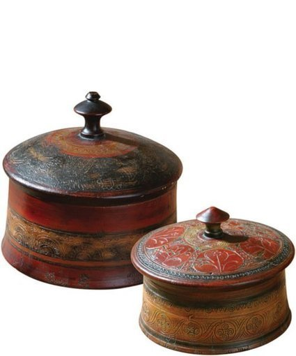 Uttermost Sherpa Boxes Set of 2 Distressed Red | Home - Office Accessories | Scoop.it
