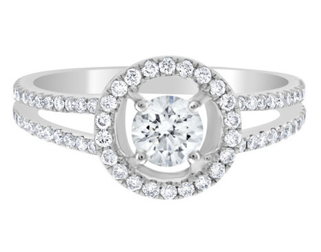 Halo diamond ring VR1006 | Engagement Rings | Scoop.it