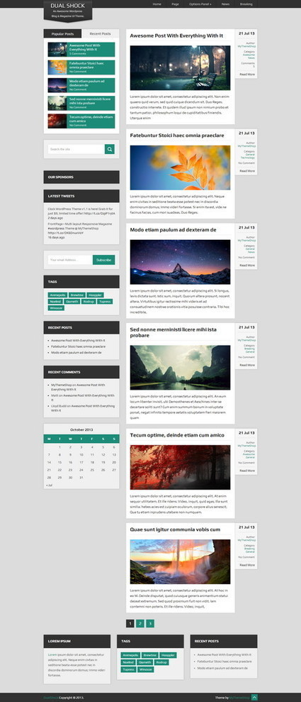 40+ Best Free Responsive WordPress Magazine Themes | Ultimate Tech-News | Scoop.it