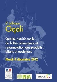 OQALI - Observatoire de la Qualité de l'Alimentation - 2e colloque Oqali , décembre 2012 | Sécurité sanitaire des aliments | Scoop.it