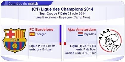 Regarder fc Barcelona vs Ajax Amsterdam en direct streaming sur bein sport Le 21-10-2014-bein sport | bein sports arabia | Scoop.it