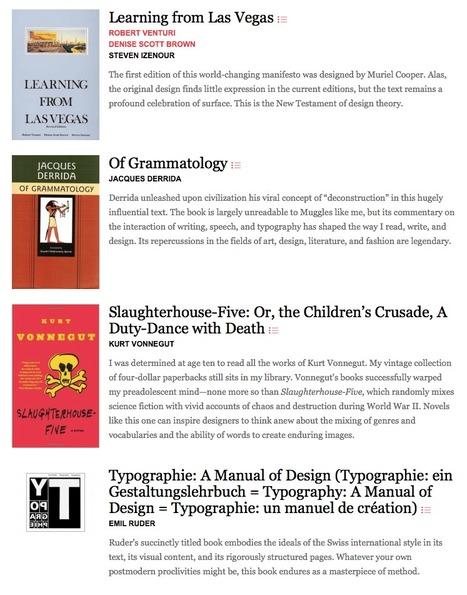 3 Lists of Books Every Graphic Designer Should Read | recherche et enseignement en design graphique | Scoop.it