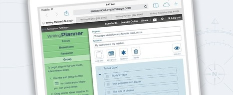 Writing Planner by SAS® Curriculum Pathways® | Useful tech tools for teachers | Scoop.it