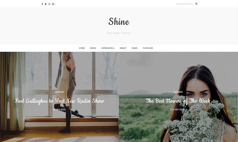 Shine Blogger Template | Blogger themes | Scoop.it
