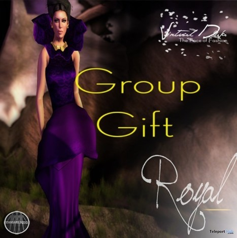 Royal Grape Gown Group Gift by Virtual Diva | Teleport Hub - Second Life Freebies | Second Life Freebies | Scoop.it