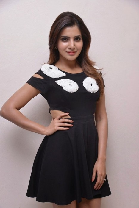 Actress Samantha Ruth Black Mini Skirt Dress from Naa Bangaaru Talli Movie Stills, Actress, Tollywood, Western Dresses | Indian Fashion Updates | Scoop.it