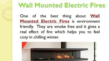 Wall Mounted Electric Fire | Construction And Maintenance | Tulipalo | Scoop.it