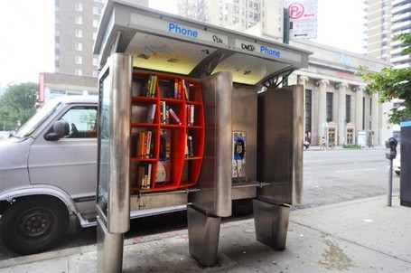 NYC Phone Booths Turned Into Free Mini Libraries | BASIC VOWELS | Scoop.it