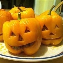 Stuffed Jack-O-Lantern Bell Peppers Recipe - Allrecipes.com | Ta-Da Internet Food & Cooking Network | Scoop.it