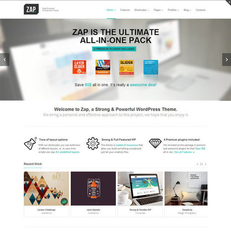 ZAP WordPress Theme | WordPress Theme Download | thanks | Scoop.it