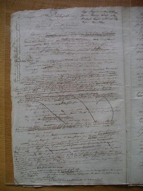 L'écriture de Charles Fourier : un bon exercice de paléographie - Généalogie blog | GenealoNet | Scoop.it