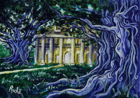 NOLA LEGENDS Oak Alley Dryads - fine art 8x10 or 11x14 matted print New Orleans | Oak Alley Plantation: Things to see! | Scoop.it