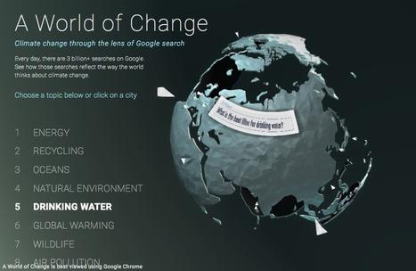 Le changement climatique à travers les recherches Google | Journalisme graphique | Scoop.it