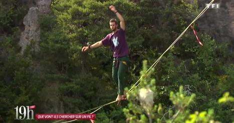 Il bat le record de highline, sur un fil à plusieurs centaines de mètres de haut ! | L'info tourisme en Aveyron | Scoop.it