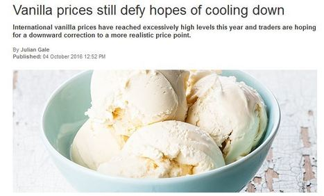 Vanilla prices still defy hopes of cooling down. | F&FNews | Scoop.it